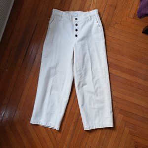 J. Crew Button Fly Crop Pants